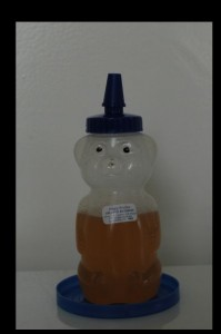bear shape honey container