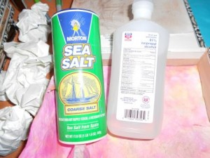 sea salt and isopropyl alcohol